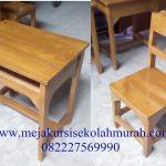 Model Meja Kursi Sekolah Bali Jati Murah