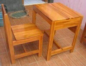 Set Meja Kursi Sekolah Laci setengah