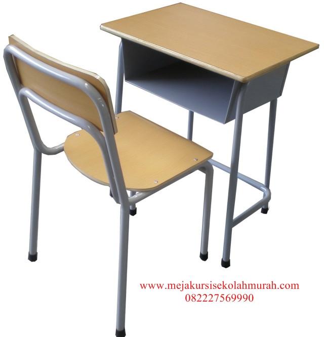 Set meja Kursi Sekolah Kaki Besi