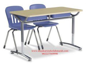 Set meja kursi sekolah panjang besi terbaru