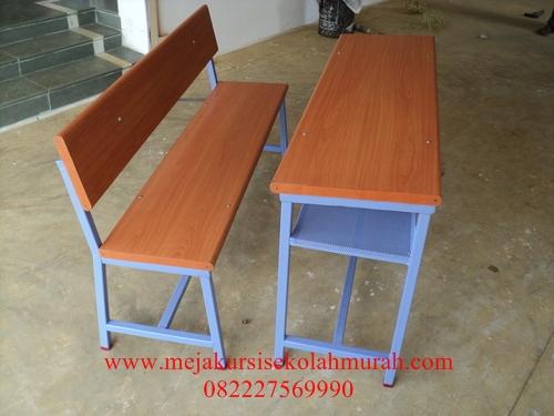 Set meja kursi sekolah panjang model Bangku