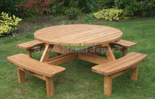 Furniture Meja taman Cafe Bundar Terbaru