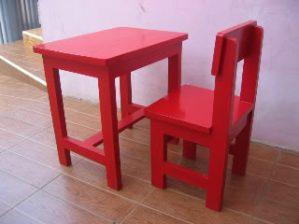 Meja Kursi Sekolah TK Kayu Jati