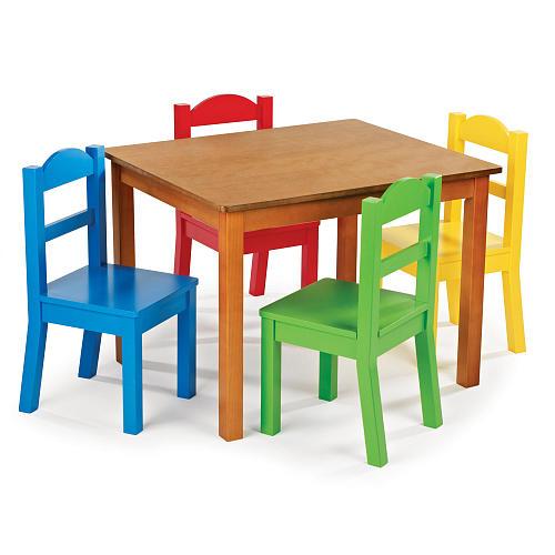 Meja Kursi Sekolah Tk Warna 1 Meja 4 Kursi murah