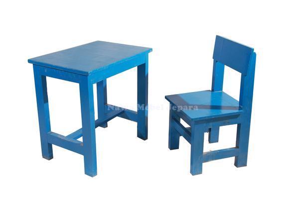 Meja Kursi TK Taman Kanak Kanak Warna Biru