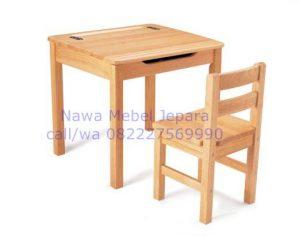 Set Meja Kursi Sekolah Dengan Tutup Daun Meja