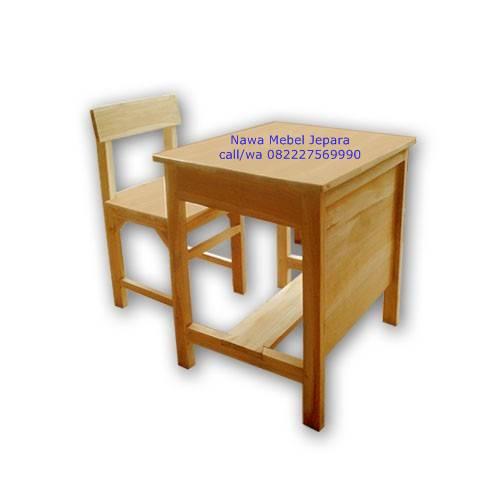 Set Meja Kursi Sekolah jati Srampat Lebar
