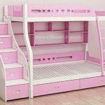 Tempat Tidur Anak Tingkat Pink