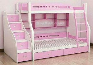 Kamar Tidur Tingkat Anak Pink