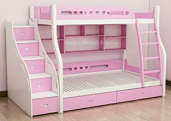 Tempat-Tidur-Anak-Tingkat-Pink Kamar Tidur Tingkat Anak Pink