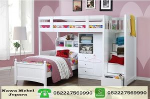 Tempat Tidur Anak Tingkat Multifungsi Dengan Almari