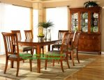 Set Ruang Meja Kursi Makan Minimalis Dengan Almari Hias Modern