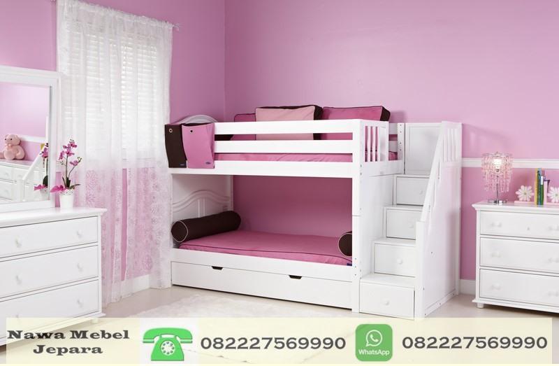 Set Tempat Tidur Anak Perempuan Tingkat