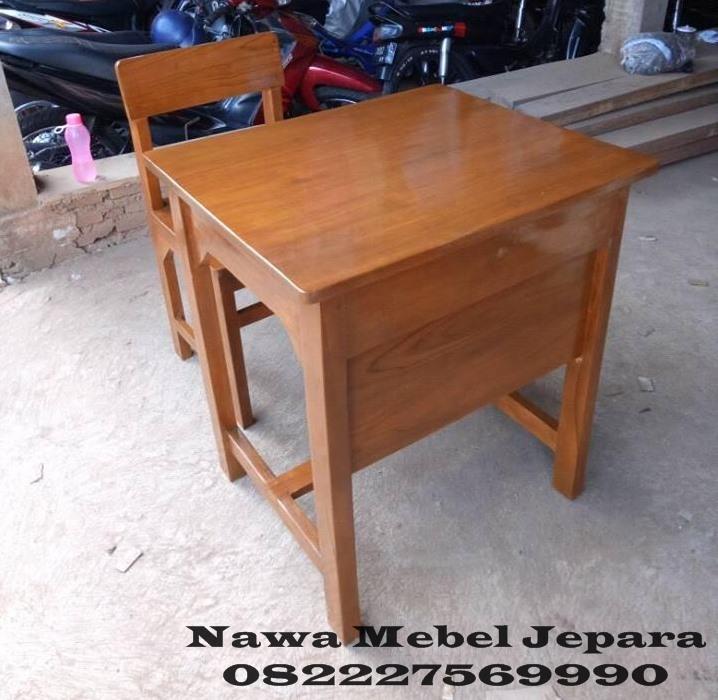 Meja Kursi sekolah Jati