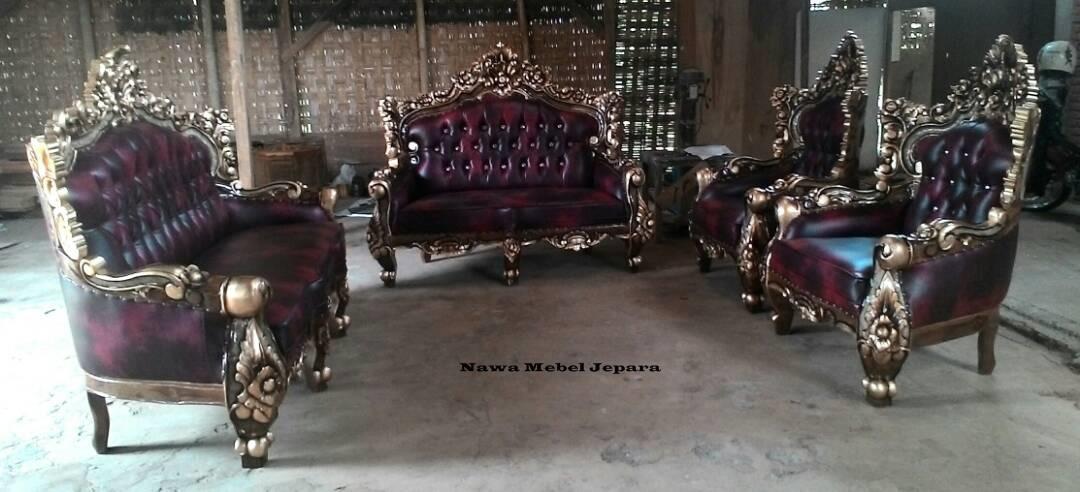Set-Sofa-Ruang-Tamu-Romawi-Jati Set Sofa Tamu Romawi Jati Terbaru