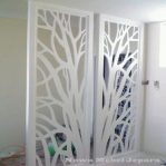 Sketsel Penyekat Ruangan Motif Pohon