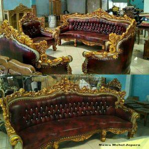 Set Sofa Tamu Romawi Jati Terbaru