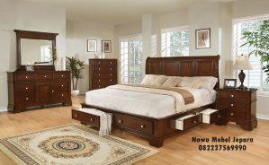 Set Tempat Tidur Minimalis Laci Terbaru Elegan