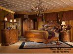 Set Kamar Tempat Tidur Klasik Eropa Mewah King Alaska Terbaru