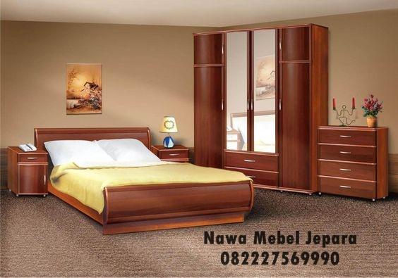 Model Set Tempat Tidur Jati Model Lengkung Terbaru