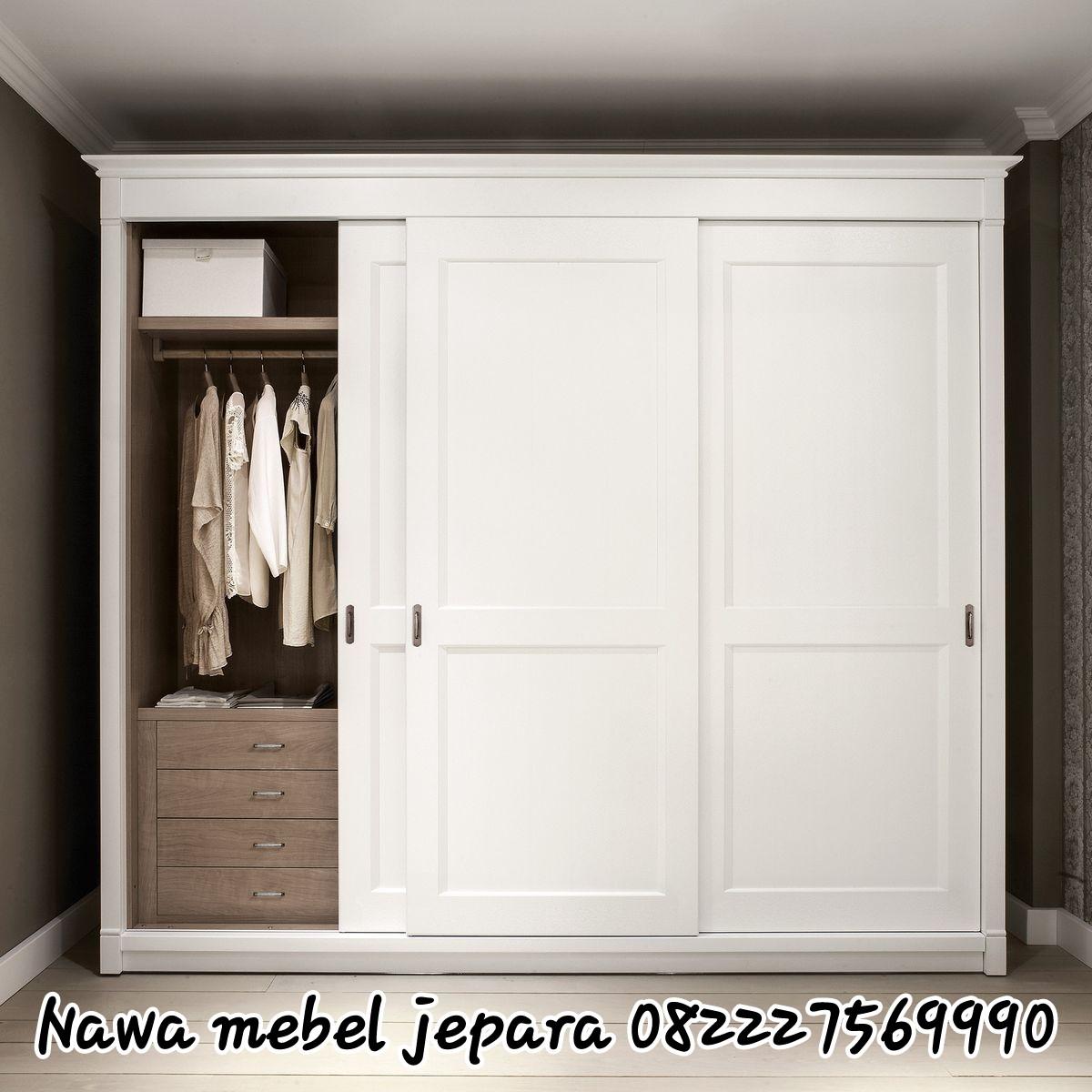 Lemari Pakaian Mewah 3 Pintu Sliding