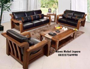 Kursi Sofa Tamu jati Minimalis Modern
