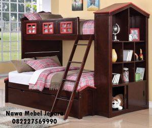 Tempat Tidur Anak Tingkat Jati Terbaru