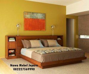 Tempat Tidur Modern Kayu Jati Elegan