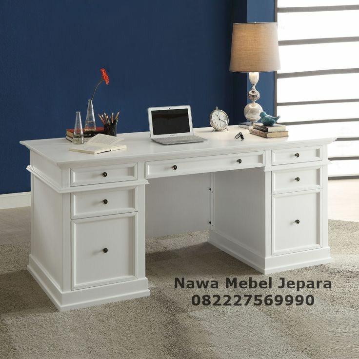 Model Meja Kantor Minimalis Putih NM-436