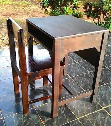 Set meja Kursi Sekolah SMA kayu Jati