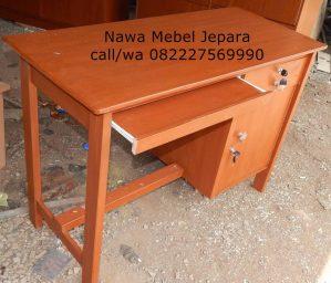 Meja Komputer Sekolah Terbaru kayu Akasia