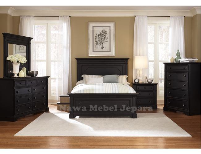 Set Ruang Tidur Minimalis Warna Duco Hitam