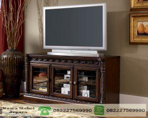 Bufet Tv Kaca Ukir Terbaru