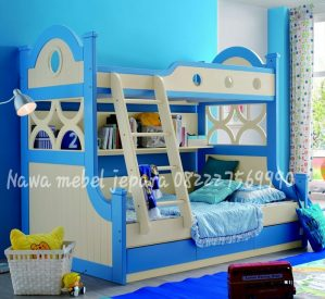 Tempat Tidur Anak Tingkat Biru Elegan