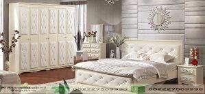 Set Kamar Tidur Mewah Dengan Almari 6 Pintu Elegan
